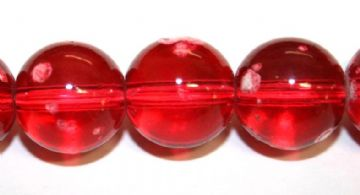 35pieces x 12mm Red colour round shape bubble gum glass beads / speckled glass beads -- 3005123
